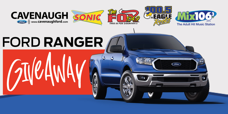 Here's your chance to win a 2019 Ford Ranger XLT Crew Cab